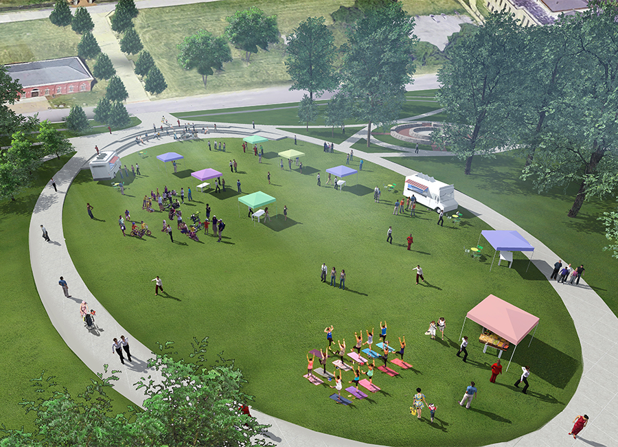 West Side Grows Together: Cool Springs Park Perspective Rendering